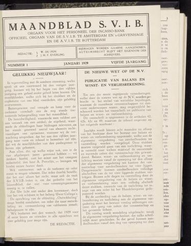 Incasso-Bank - Maandblad SVIB 1929