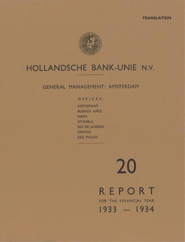 Hollandsche Bank-Unie 1933