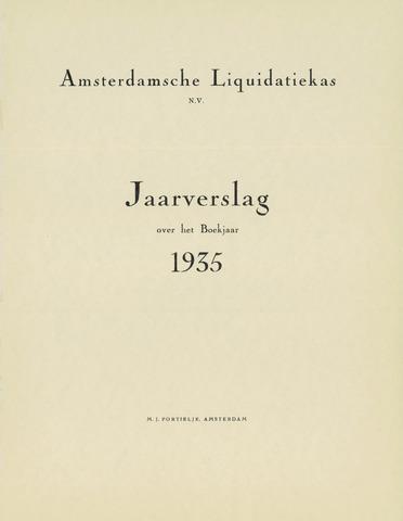 Amsterdamsche Liquidatiekas - Amsterdamsche Goederenbank 1935