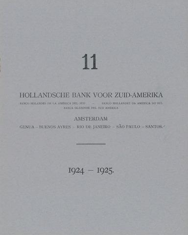 Hollandsche Bank voor Zuid-Amerika 1924