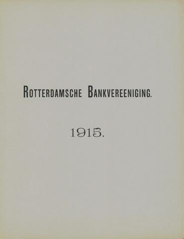Rotterdamsche Bank 1915