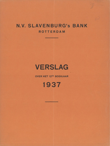 Slavenburg's Bank 1937