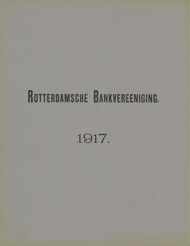 Rotterdamsche Bank 1917