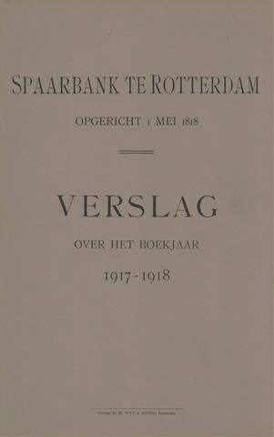 Spaarbank te Rotterdam 1917