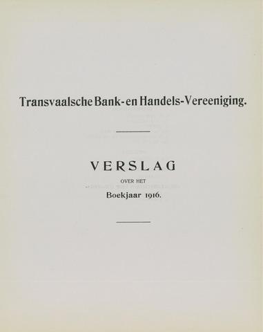 Transvaalsche Bank- en Handelsvereeniging 1916