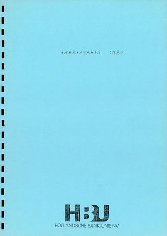Hollandsche Bank-Unie 1980