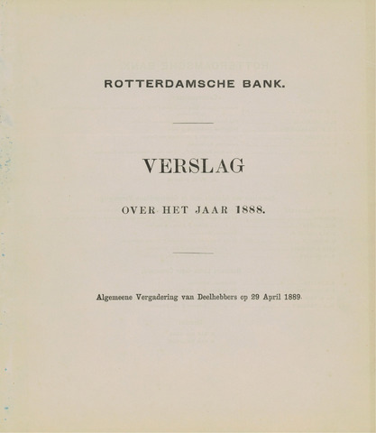 Rotterdamsche Bank 1888