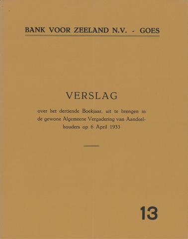 Bank voor Zeeland 1932