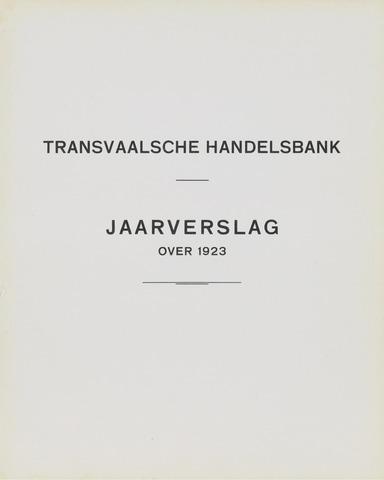 Transvaalsche Bank- en Handelsvereeniging 1923
