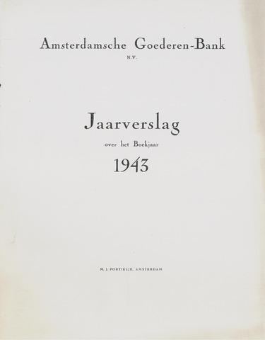 Amsterdamsche Liquidatiekas - Amsterdamsche Goederenbank 1943