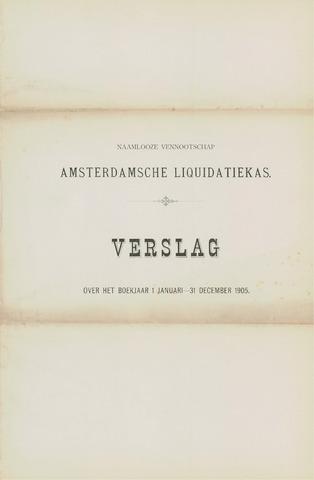 Amsterdamsche Liquidatiekas - Amsterdamsche Goederenbank 1905