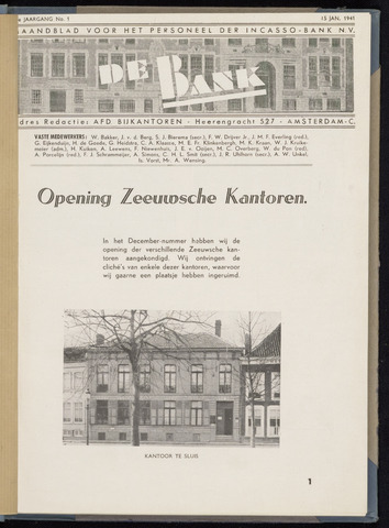 Incasso-Bank - De Bank 1941