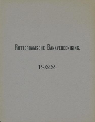 Rotterdamsche Bank 1922
