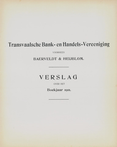 Transvaalsche Bank- en Handelsvereeniging 1911