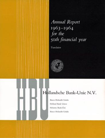 Hollandsche Bank-Unie 1963