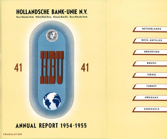 Hollandsche Bank-Unie 1954