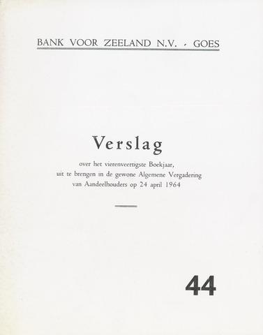 Bank voor Zeeland 1963