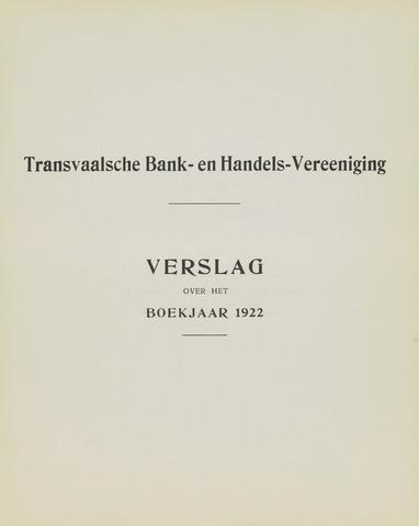 Transvaalsche Bank- en Handelsvereeniging 1922