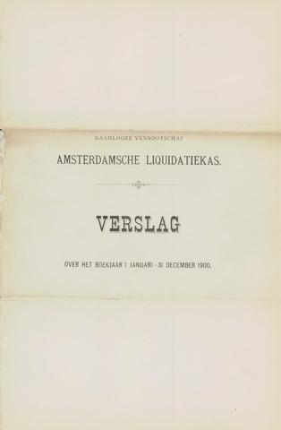 Amsterdamsche Liquidatiekas - Amsterdamsche Goederenbank 1900