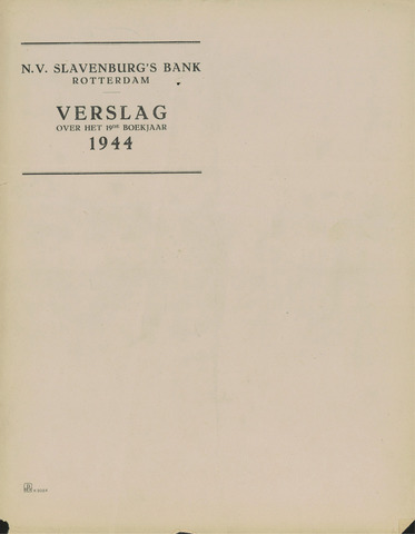 Slavenburg's Bank 1944