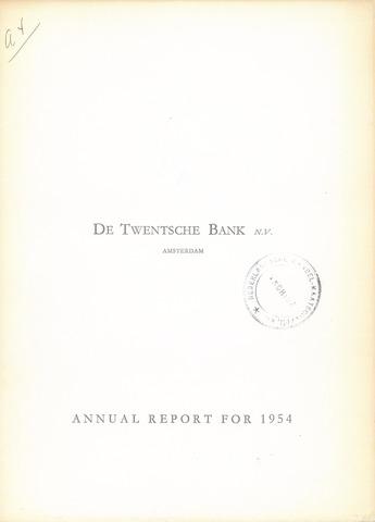 Twentsche Bank 1954