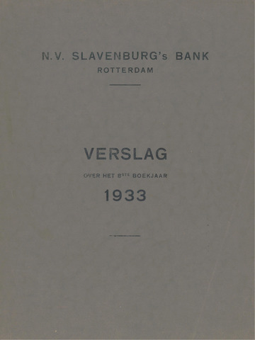 Slavenburg's Bank 1933
