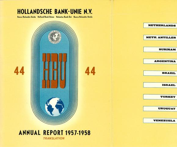 Hollandsche Bank-Unie 1957