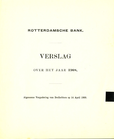 Rotterdamsche Bank 1908