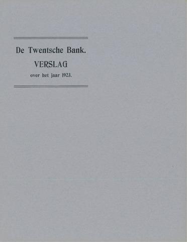 Twentsche Bank 1923
