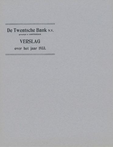 Twentsche Bank 1933