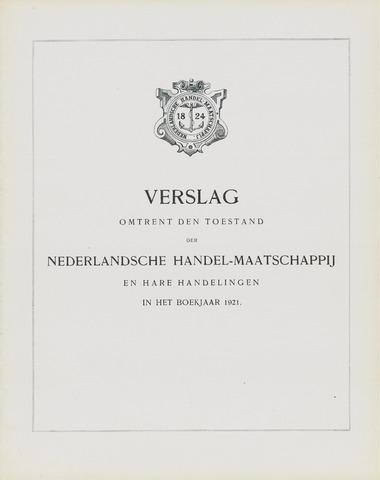 Nederlandsche Handel-Maatschappij 1921