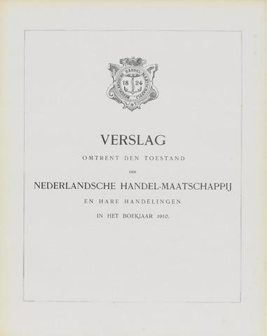 Nederlandsche Handel-Maatschappij 1910