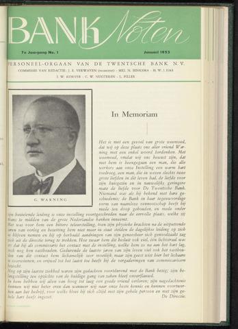 De Twentsche Bank - Banknoten 1953