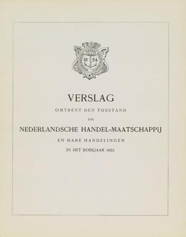 Nederlandsche Handel-Maatschappij 1922
