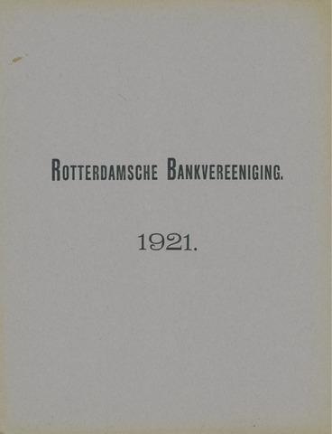 Rotterdamsche Bank 1921