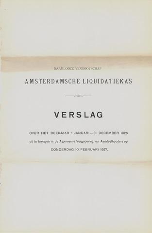 Amsterdamsche Liquidatiekas - Amsterdamsche Goederenbank 1926