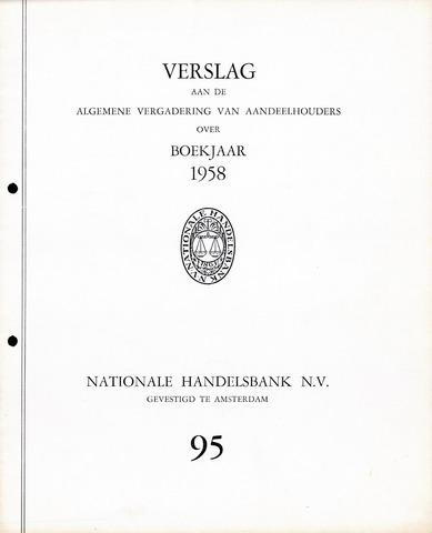 Nationale Handelsbank 1958