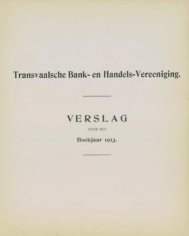 Transvaalsche Bank- en Handelsvereeniging 1913