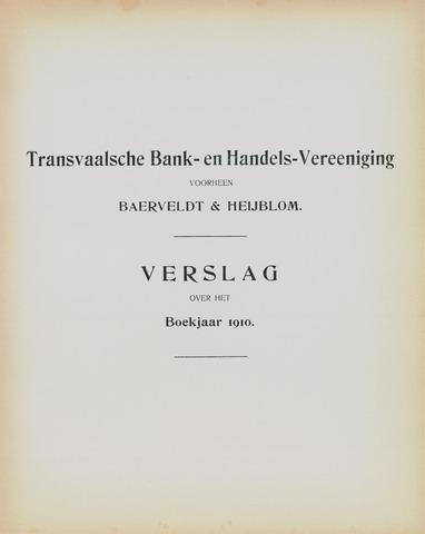 Transvaalsche Bank- en Handelsvereeniging 1910