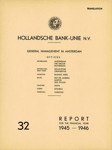Hollandsche Bank-Unie 1945
