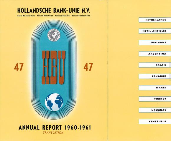 Hollandsche Bank-Unie 1960