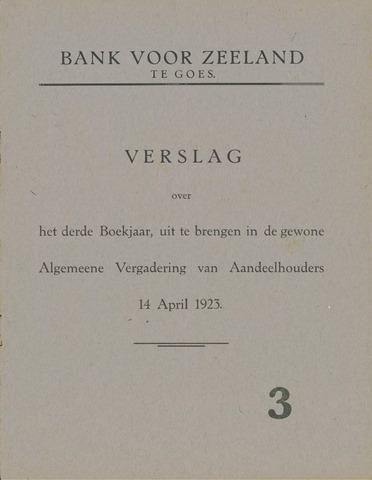 Bank voor Zeeland 1922