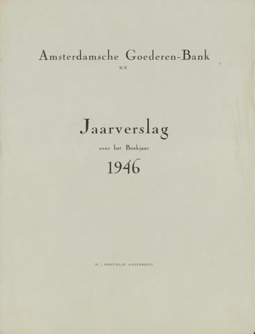 Amsterdamsche Liquidatiekas - Amsterdamsche Goederenbank 1946