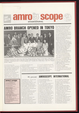 Amro Bank - Amroscoop International 1979
