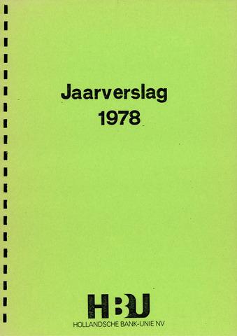 Hollandsche Bank-Unie 1978