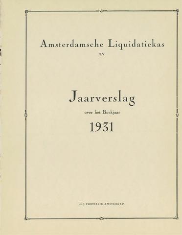 Amsterdamsche Liquidatiekas - Amsterdamsche Goederenbank 1931-01-01
