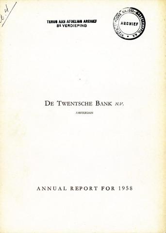 Twentsche Bank 1958