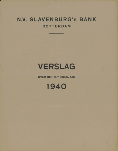 Slavenburg's Bank 1940