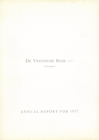 Twentsche Bank 1957