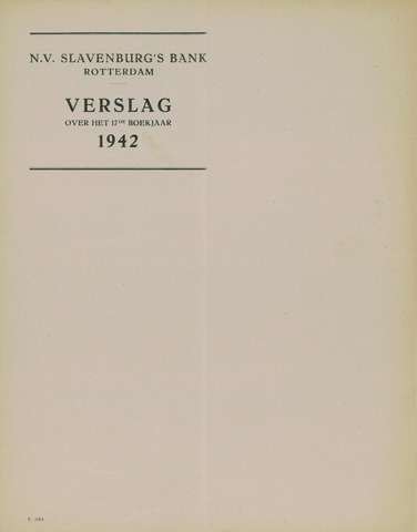 Slavenburg's Bank 1942